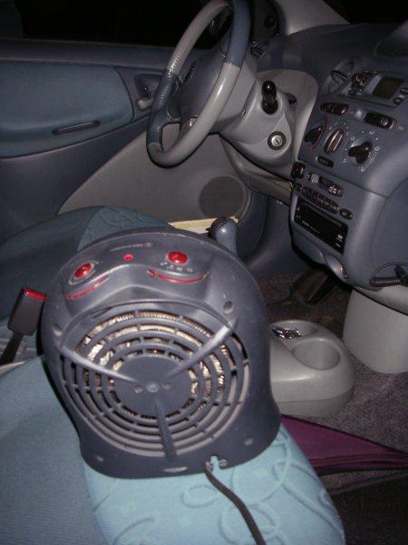 Elektrische kachel in de auto