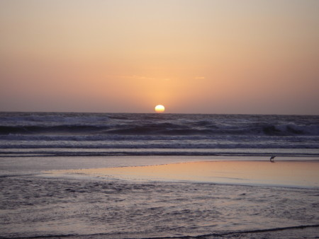Zonsondergang strand 's-Gravenzande