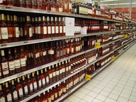 Rosé schap supermarkt
