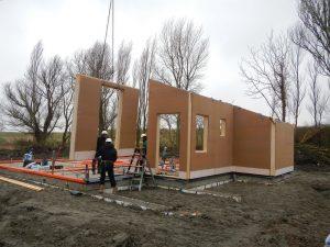 Start bouw houtskelet